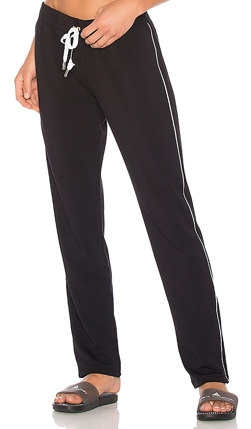 Beyond Yoga x kate spade Tuxedo Piped Sweatpant in Black