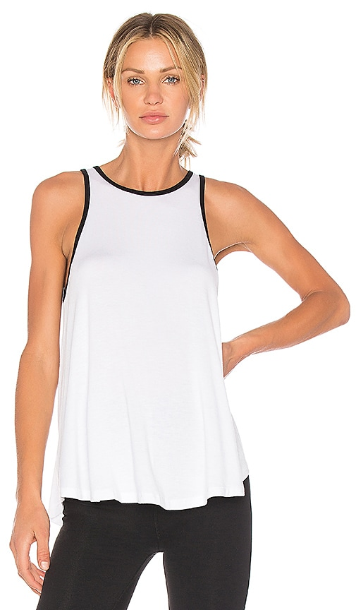 Beyond Yoga x kate spade Leaf Bow Circle Tank in White