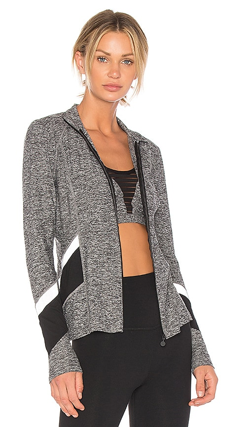 Beyond Yoga Refraction Jacket in Gray