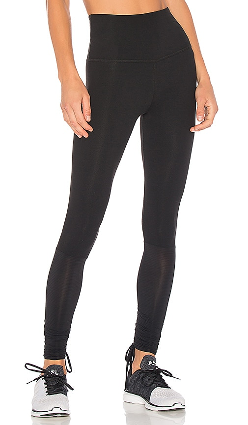 0450451252a264 Beyond Yoga True Stripes Shirred Adjustable Legging in Black | REVOLVE