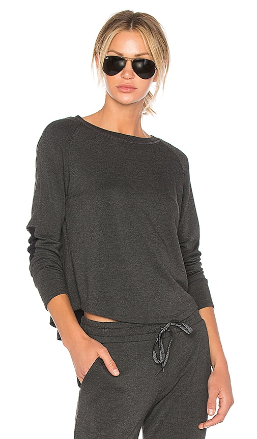 Beyond Yoga Easy Rider Moto Pullover in Charcoal