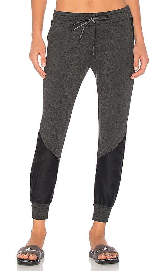 Beyond Yoga Easy Rider Moto Sweatpant in Charcoal