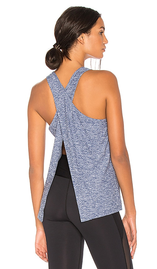 Beyond Yoga Lightweight Crossover Tank in Blue