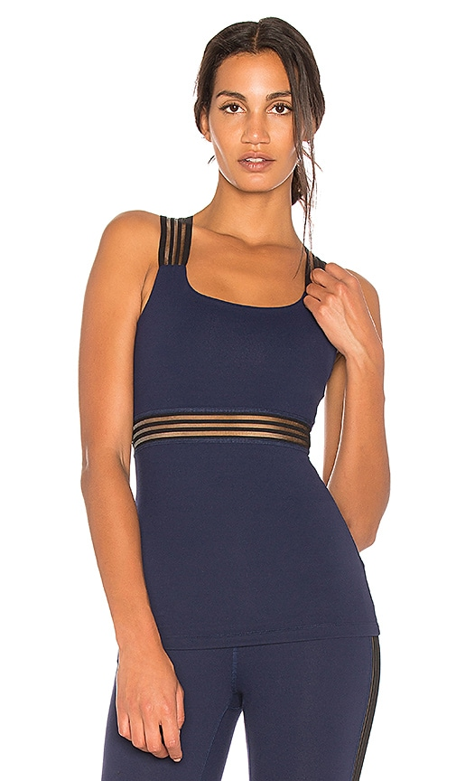 Beyond Yoga Sheer Illusion Tank in Navy