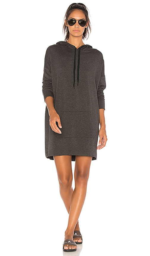 Beyond Yoga Hood Times Sweatshirt Dress in Charcoal