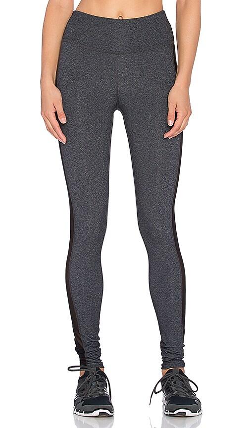 Beyond Yoga Slick Mesh Long Legging in Heather Grey