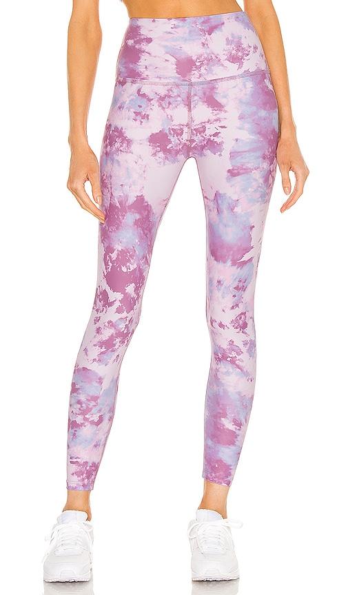 Beyond Yoga High Waisted Midi Legging in Pink.