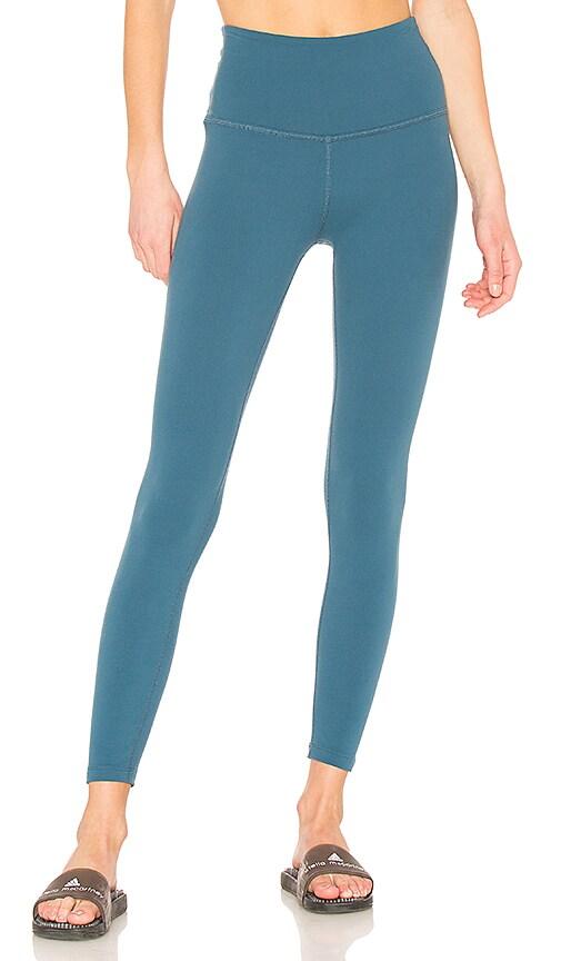 Beyond Yoga High Waist Midi Legging in Blue