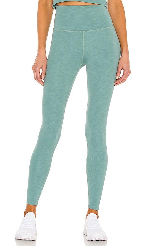 Beyond Yoga High Waisted Midi Legging in Green.