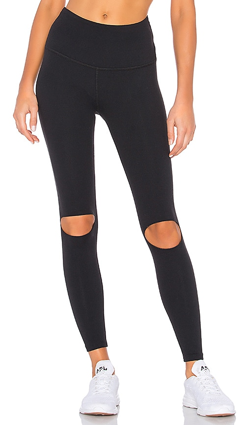 613bf71322 Beyond Yoga Got To Slit High Waisted Legging in Jet Black | REVOLVE