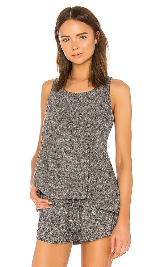 Beyond Yoga Lightweight Crossover Tank in Gray