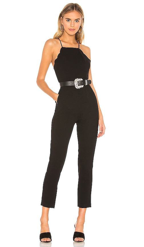 Scalloped Ankle Jumpsuit