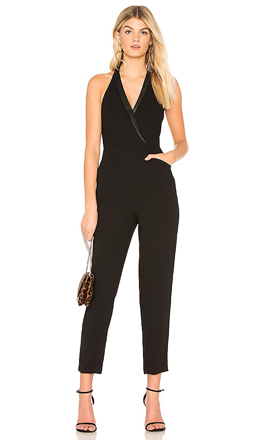 bfafa372e3f BCBGeneration Tuxedo Jumpsuit In Black in Black