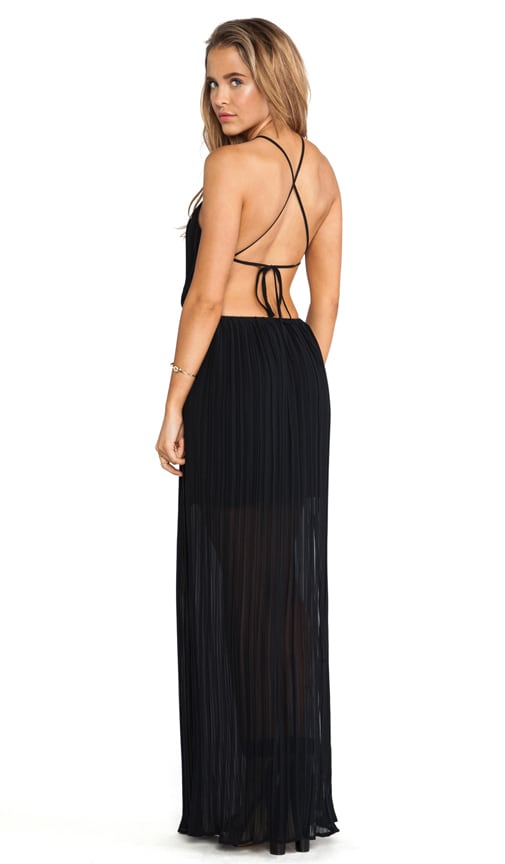 Open Back Side Slit Maxi Gown