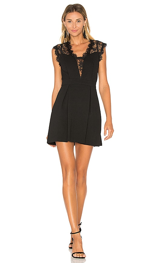 Lace Inset Dress in Black. - size 0 (also in 2,4,6,8) BCBGeneration