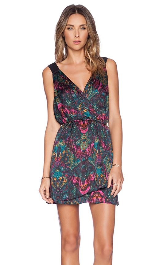BCBGeneration Wrap Dress in Black