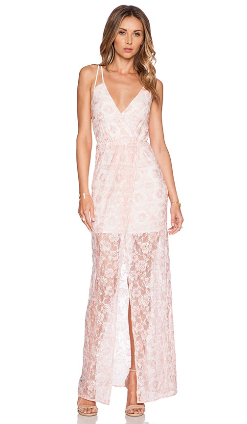 BCBGeneration Knit Evening Dress in Pink