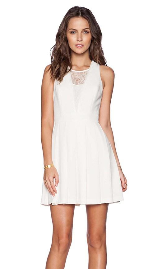 BCBGeneration Cocktail Dress in Whisper White