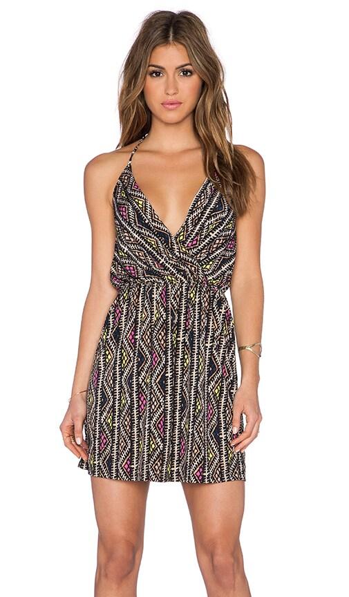 Surplice Halter Dress