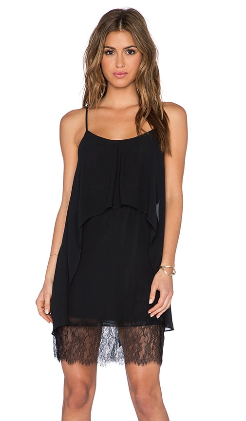 BCBGeneration Lace Hem Dress in Black