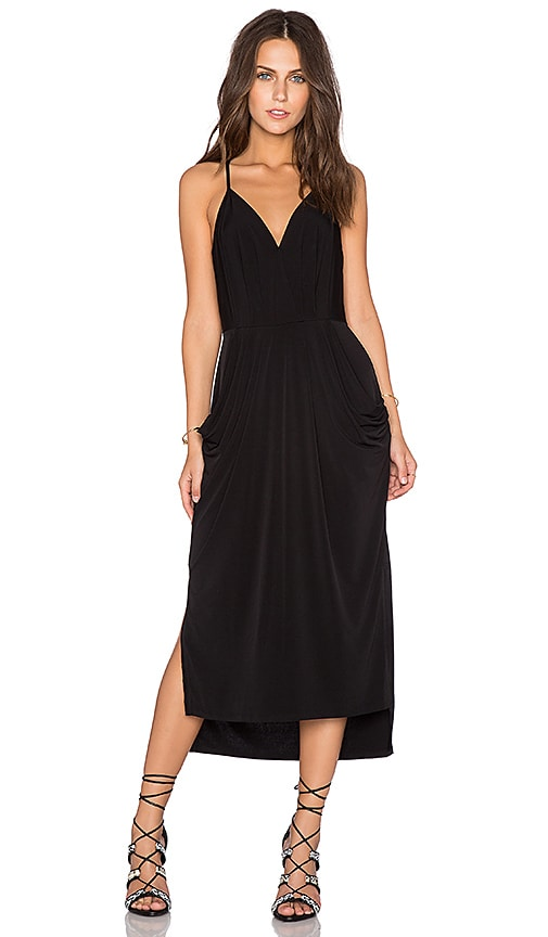 BCBGeneration Crossover Midi Dress in Black
