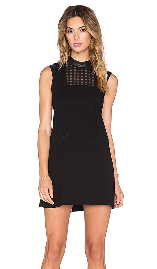 BCBGeneration Cut Out Back Dress in Black