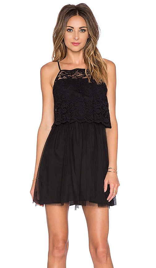 BCBGeneration Lace Mini Dress in Black