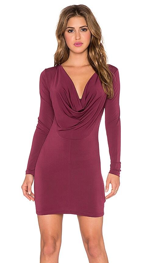 Drape Back Long Sleeve Dress