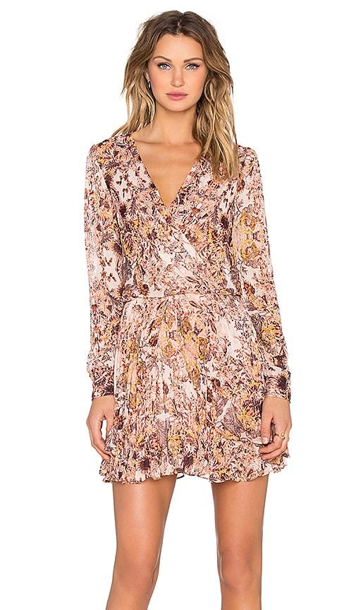 BCBGeneration Long Sleeve Mini Dress in Pink
