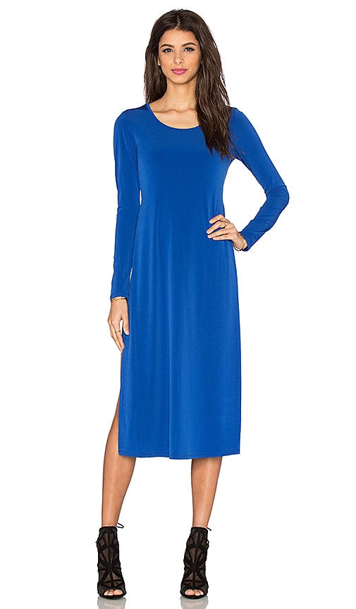 BCBGeneration Long Sleeve Maxi Dress in Electric Blue