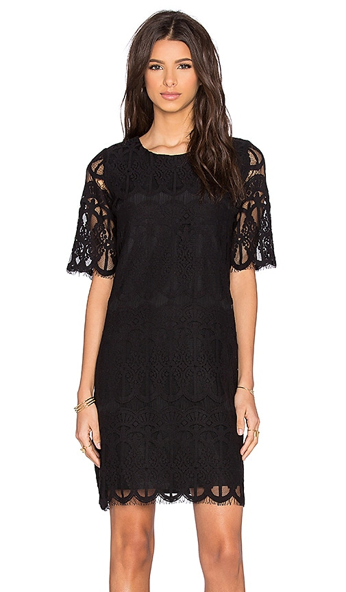 BCBGeneration Mini Shift Dress in Black