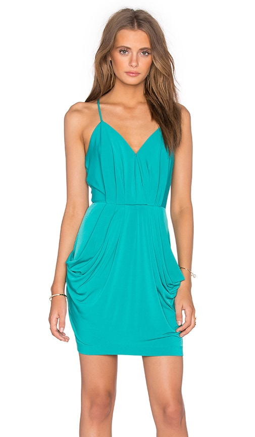 BCBGeneration Drape Pocket Dress in Teal