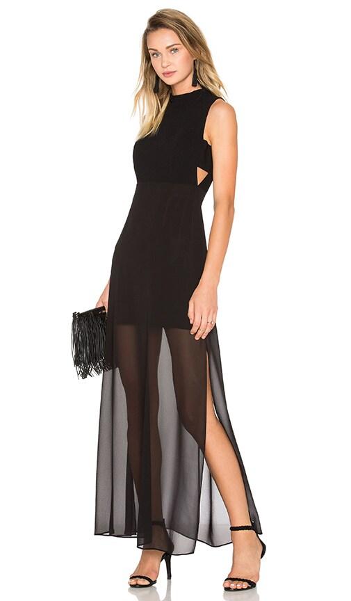 BCBGeneration Mock Neck Maxi Dress in Black
