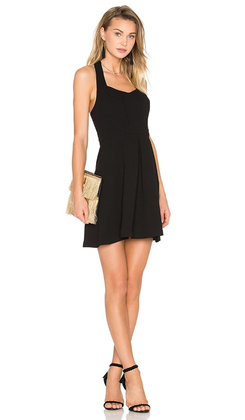 BCBGeneration Seamed Halter Dress in Black