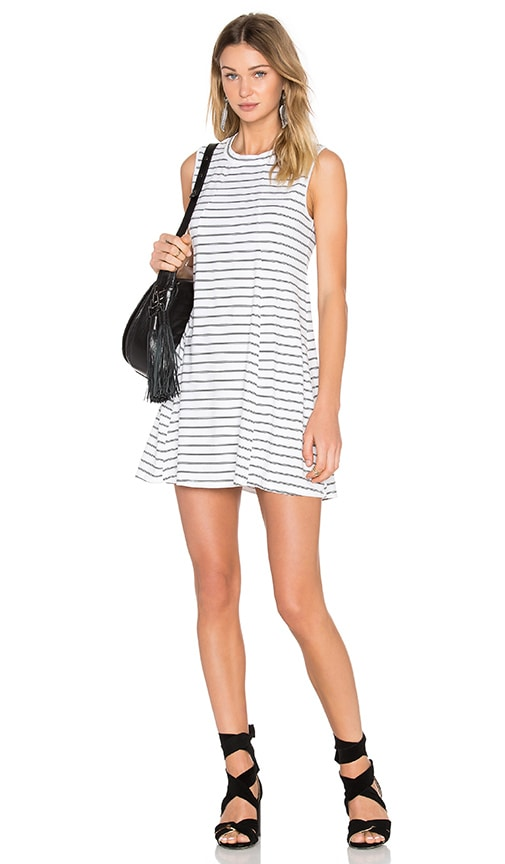 BCBGeneration A-Line Sleeveless Dress in Black & White