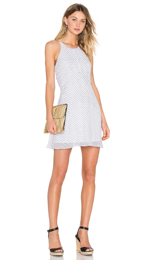 BCBGeneration Cross Back Dress in White