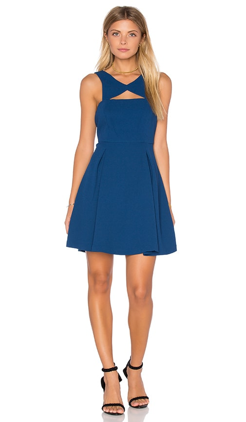 BCBGeneration Cutout V Back Dress in Navy