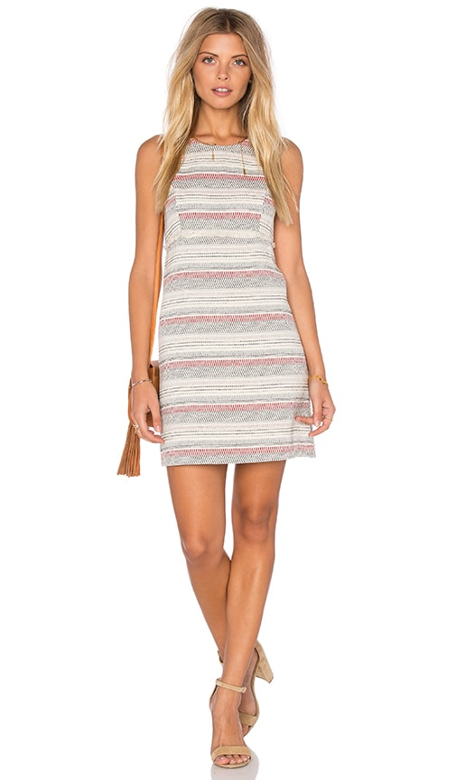 BCBGeneration Crochet Stripe Dress in Ivory