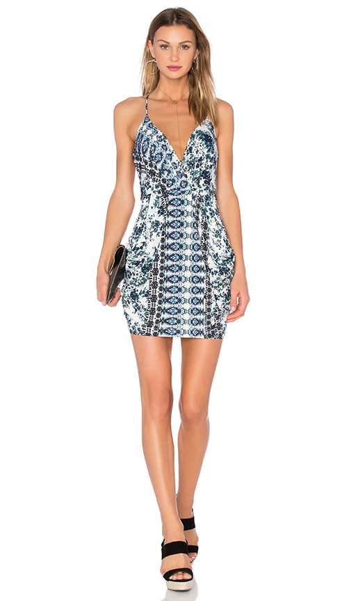BCBGeneration Cocktail Faux Wrap Dress in Blue