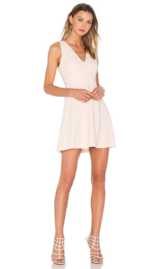 BCBGeneration Cocktail Halter Dress in Peach