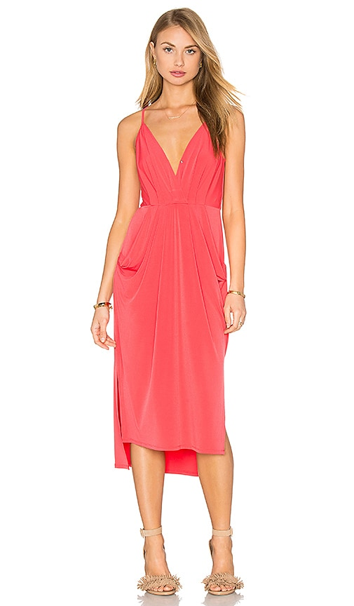 BCBGeneration Midi Dress in Coral