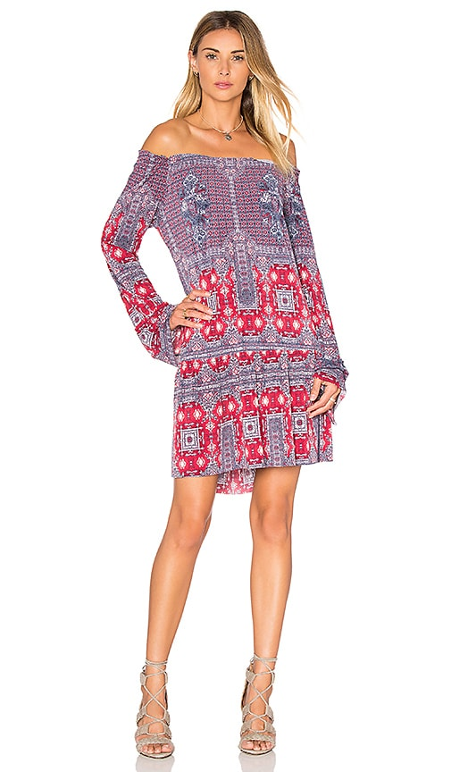 BCBGeneration Bell Sleeved Mini Dress in Red