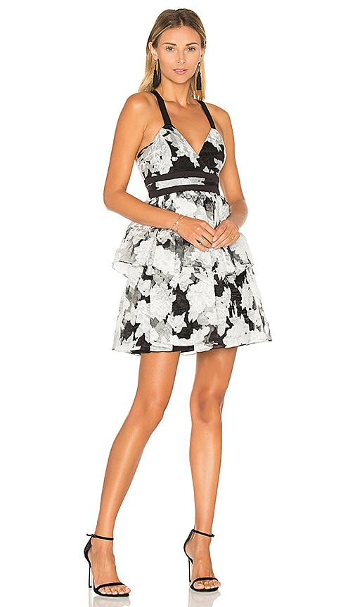 BCBGeneration Waist Strap Dress in Black & White