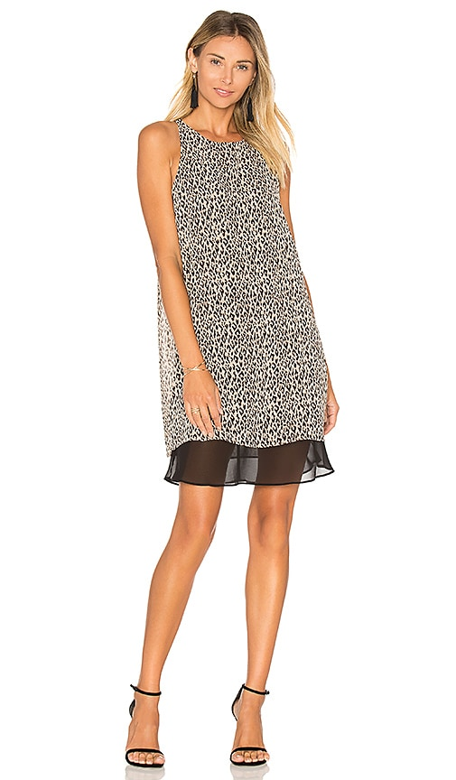 BCBGeneration Layered Mini Dress in Beige