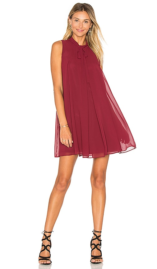 BCBGeneration Mini Tank Dress in Burgundy