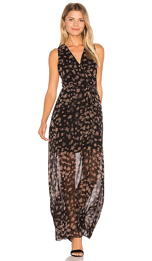 BCBGeneration Surplice Maxi Dress in Black