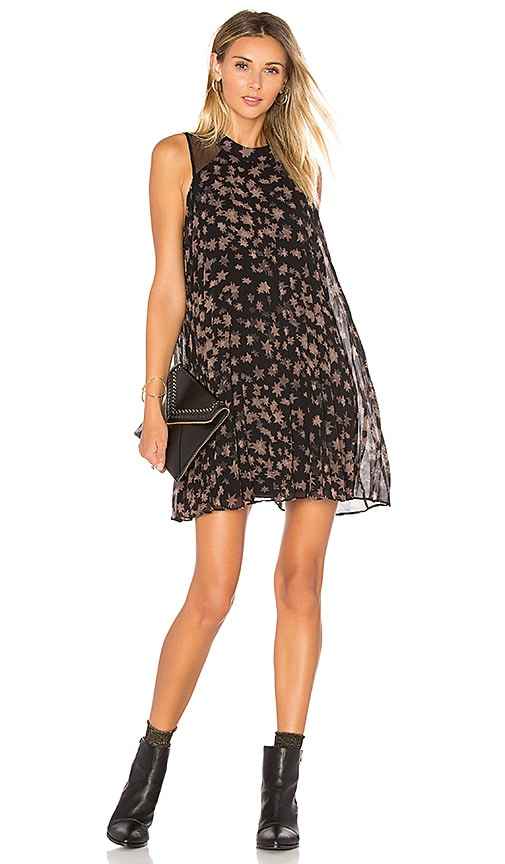 BCBGeneration Pleated Mini Dress in Black