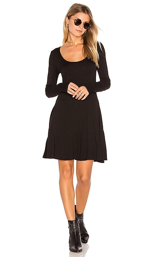 BCBGeneration Casual Fit & Flare Dress in Black