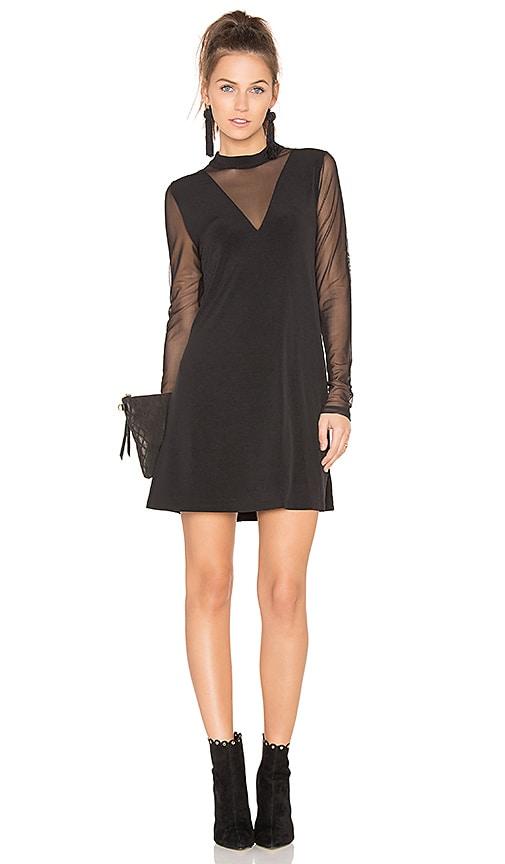 BCBGeneration A Line Mesh Dress in Black