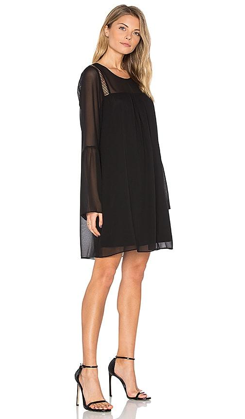 BCBGeneration Flare Mini Dress in Black